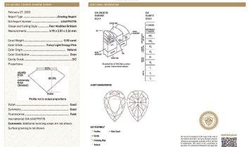 Fancy Light Orangy Pink Diamond Necklace, 0.30 Carat, Pear shape, GIA Certified, 6345795778