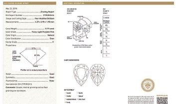 Fancy Light Purplish Pink Diamond Earrings, 0.38 Ct. (2.03 Ct. TW), Pear shape, GIA Certified, JCEF0