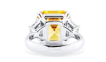 Fancy Deep Yellow Diamond Ring, 10.88 Ct. (11.90 Ct. TW), Asscher shape, GIA Certified, 14690476