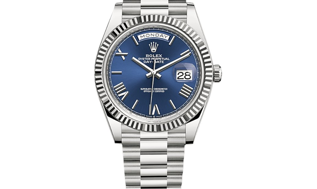 Rolex Day-date 40 White Gold Blue Dial 228239