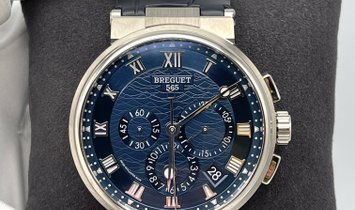 Breguet Marine Chronograph White Gold 5527BBY29WV