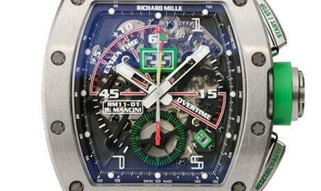 Richard Mille RM11-01 Titanium Flyback Chronograph Roberto Mancini NAKED